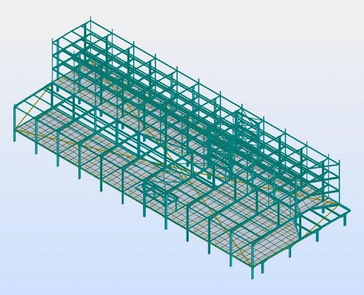 Ing cm bureaux des laboratoires th a for Structure metallique architecture